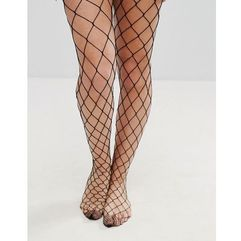 oversized fishnet tights - black, Asos