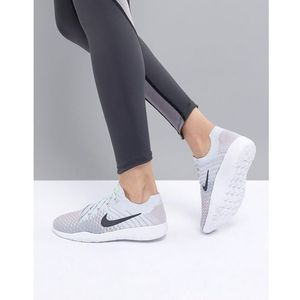 tr flyknit trainers in grey and mint - grey, Nike training