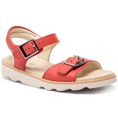 Clarks Sandały - crown bloom k 261412616 coral leather