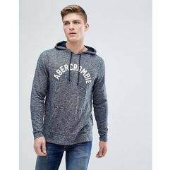 Abercrombie & fitch large flock logo hoodie in navy marl - navy