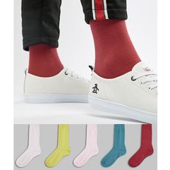 ASOS DESIGN Socks Retro Colours 5 Pack Save - Multi