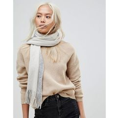 French connection oversized colourblock grey scarf - grey