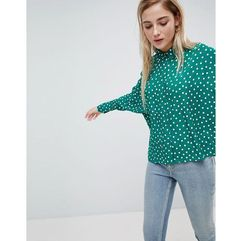 Asos crop shirt in spot print - multi marki Asos design