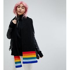 E.L.K Knitted Scarf With Rainbow Detail - Black