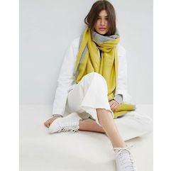 long woven diagonal colour blocked scarf - grey marki Asos