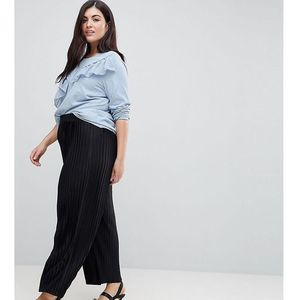 Junarose Pleated Wide Leg Trousers - Black, kolor czarny