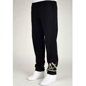 Spodnie - at large tag sweatpants black/white (0010) rozmiar: xs, K1x