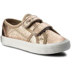 Pepe jeans Sneakersy - baker crack kids pgs30344 golden 029