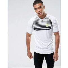 11 degrees t-shirt in white with stripes - white