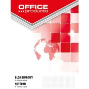 Blok biurowy , a4, w kratkę, 100 kart., 60-80gsm marki Office products