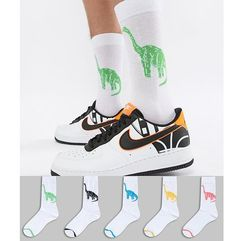 socks with dinosaur design 5 pack - multi marki Asos design