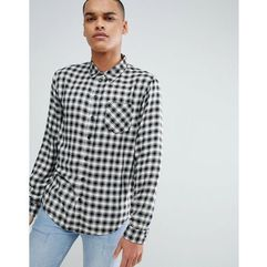 black and white check shirt - black marki Another influence