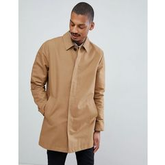 shower resistant single breasted trench in tobacco - brown, Asos design, XXS-XXXL