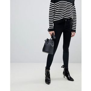 Pieces Skinny Jeans With Lace Up Back Detail - Black, jeans
