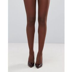Asos 15 denier nude tights in umber - brown