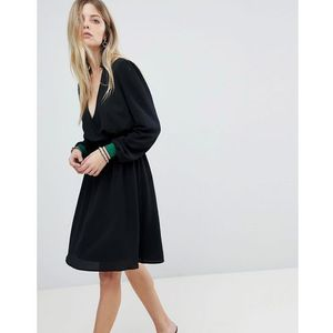 Y.A.S Wrap Dress With Sports Cuff - Black, 1 rozmiar