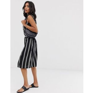 Vero Moda stripe button thru midi skirt - Multi