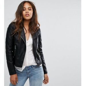 faux leather biker jacket - black marki Vero moda tall