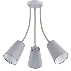 Tk lighting Żyrandol wire gray 3xe27/60w/230v