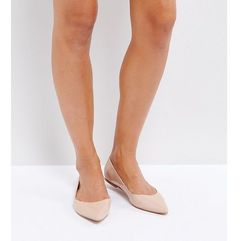 latch wide fit pointed ballet flats - beige, Asos