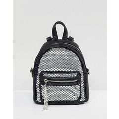 Aldo backpack with crystal studding detail and tassels - black