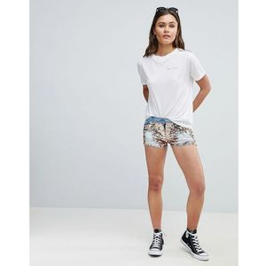 Parisian sequin denim festival shorts - blue