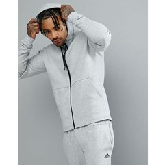 athletics stadium full zip hoodie in grey cg2088 - grey, Adidas, XS-XL
