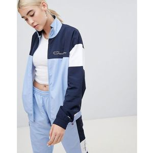 tracksuit top in colour block co-ord - blue, Champion
