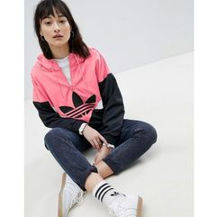 adidas Originals Colorado Panelled Windbreaker Jacket In Black And Pink - Black, kolor czarny