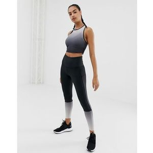 Reebok training ombre leggings in black - black