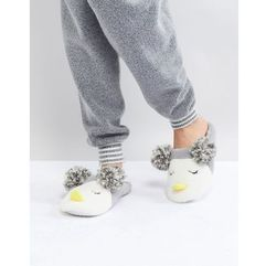 Head Over Heels by Dune Novelty Slippers - Grey