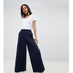 Asos white tall basketball trousers with pleat detail - navy