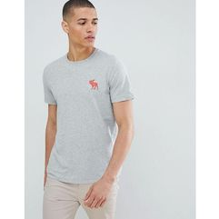 Abercrombie & Fitch large Pop icon crew neck t-shirt in grey - Grey, w 5 rozmiarach