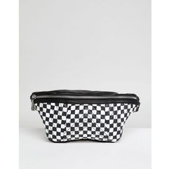 Asos quilted bum bag in checkerboard print - multi