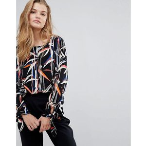 Y.A.S Graphic Printed Tie Sleeve Top - Multi
