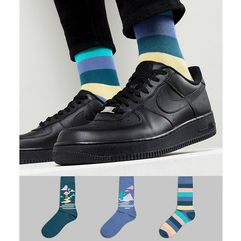 socks with desert design & stripes 3 pack - multi marki Asos design
