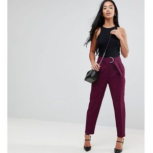 Asos petite tapered trousers with d-ring - purple