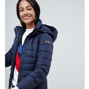 Esprit short padded jacket with hood in navy - navy