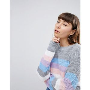 Daisy Street Relaxed Jumper In Stripe - Multi