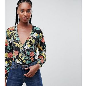 floral wrap body - black, Missguided tall