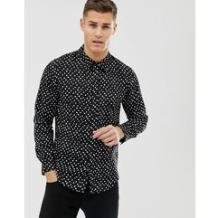 Another influence spot print long sleeve shirt - black