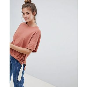 Pull&Bear organic tee in rust (join life) - Red