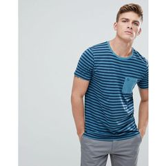 garment dyed stripe pocket t-shirt in blue - blue marki Abercrombie & fitch