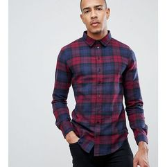 Another Influence TALL Berry Check Shirt - Red, kolor czerwony