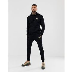 11 Degrees skinny joggers in black with gold logo - Black, 1 rozmiar