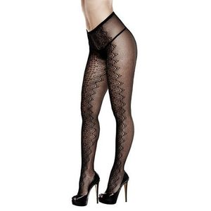 Baci lingerie Rajstopy - baci serpentine jacquard pantyhose queen size