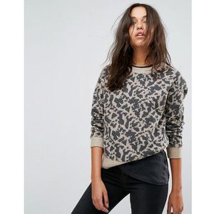 Allsaints jumper in animal print - multi