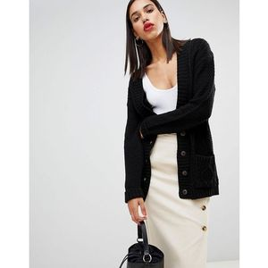 Boohoo button down cardigan in black - Black, w 2 rozmiarach