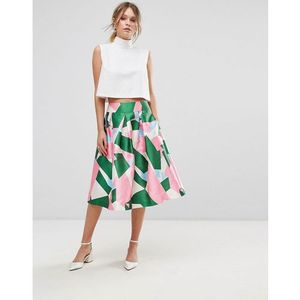 Traffic People Printed Prom Skirt - Multi