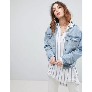Current Air Denim Jacket with Lace Back Detail - Blue, w 2 rozmiarach